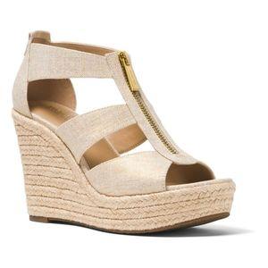 Michael Kors Damita Wedge Sandals size 7.5